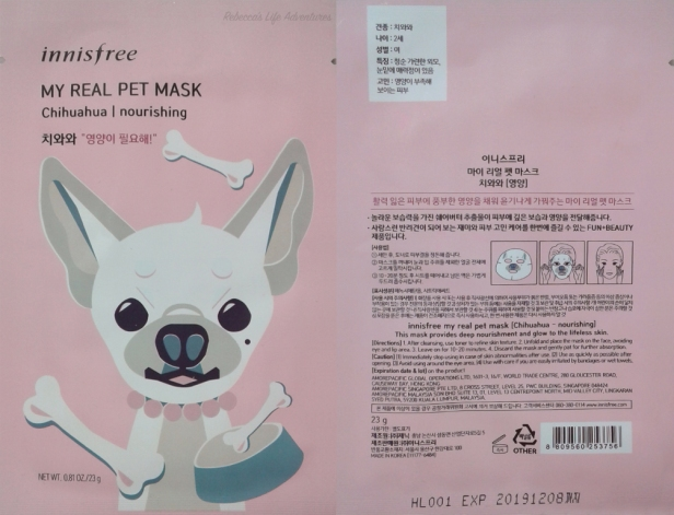 My Real Pet Mask-Chihuahua Packaging