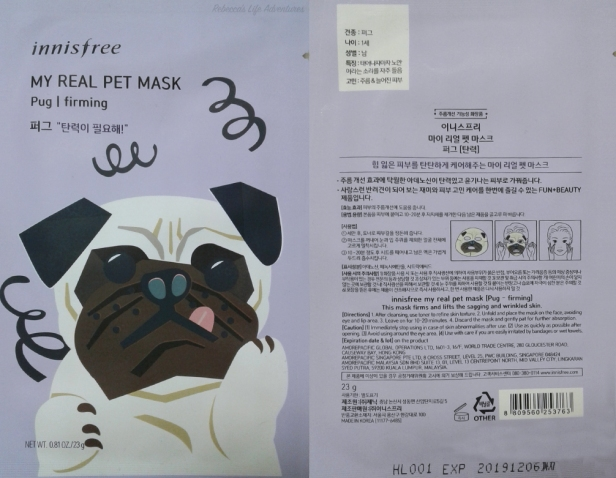 My Real Pet Mask- Pug Packaging
