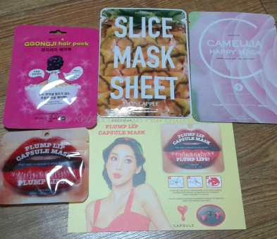 Lipmask/Plumper purchased for about 2,000won. The rest were given as service